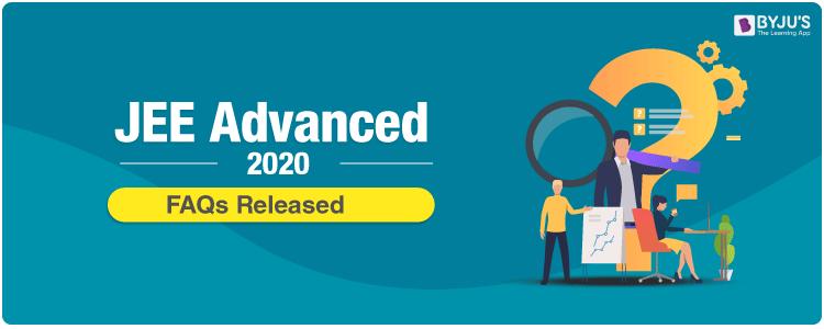 jee advanced 2020 faq released