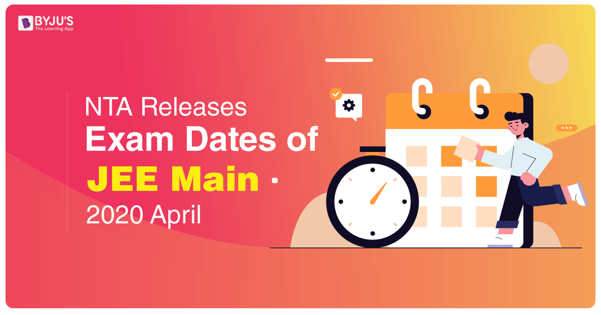 JEE Main 2020 New Exam Dates