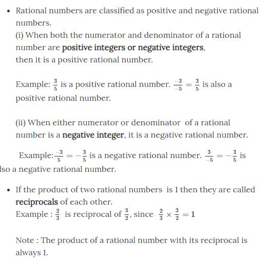 Negatives and Reciprocals