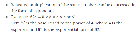 Powers amd Exponents