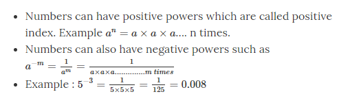 Powers with Negative Exponents