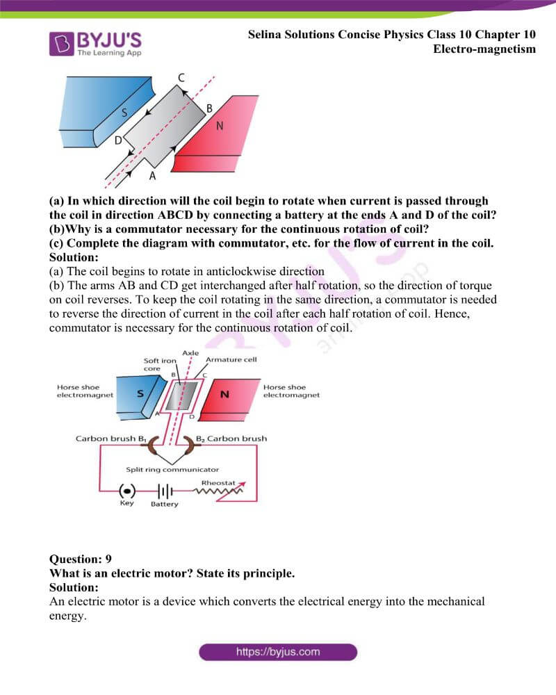 Selina Solutions Concise Physics Class 10 Chapter 10 Electro magnetism 14