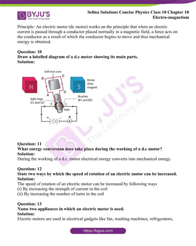 Selina Solutions Concise Physics Class 10 Chapter 10 Electro magnetism 15