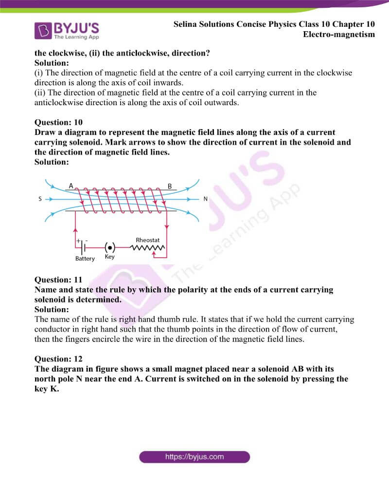 Selina Solutions Concise Physics Class 10 Chapter 10 Electro magnetism 4