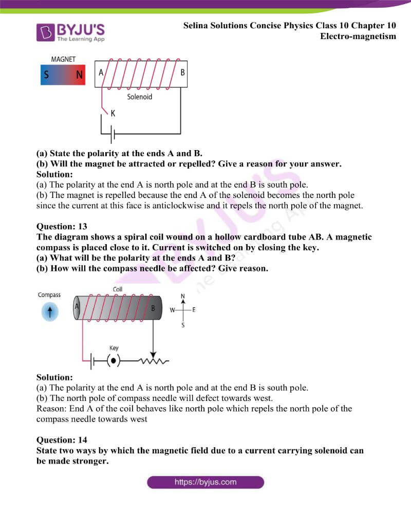 Selina Solutions Concise Physics Class 10 Chapter 10 Electro magnetism 5