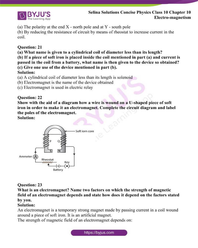 Selina Solutions Concise Physics Class 10 Chapter 10 Electro magnetism 8