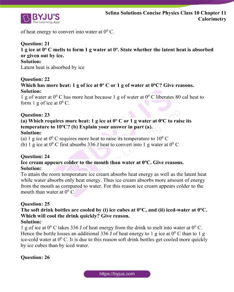 Selina Solutions Concise Physics Class 10 Chapter 11 Calorimetry 19