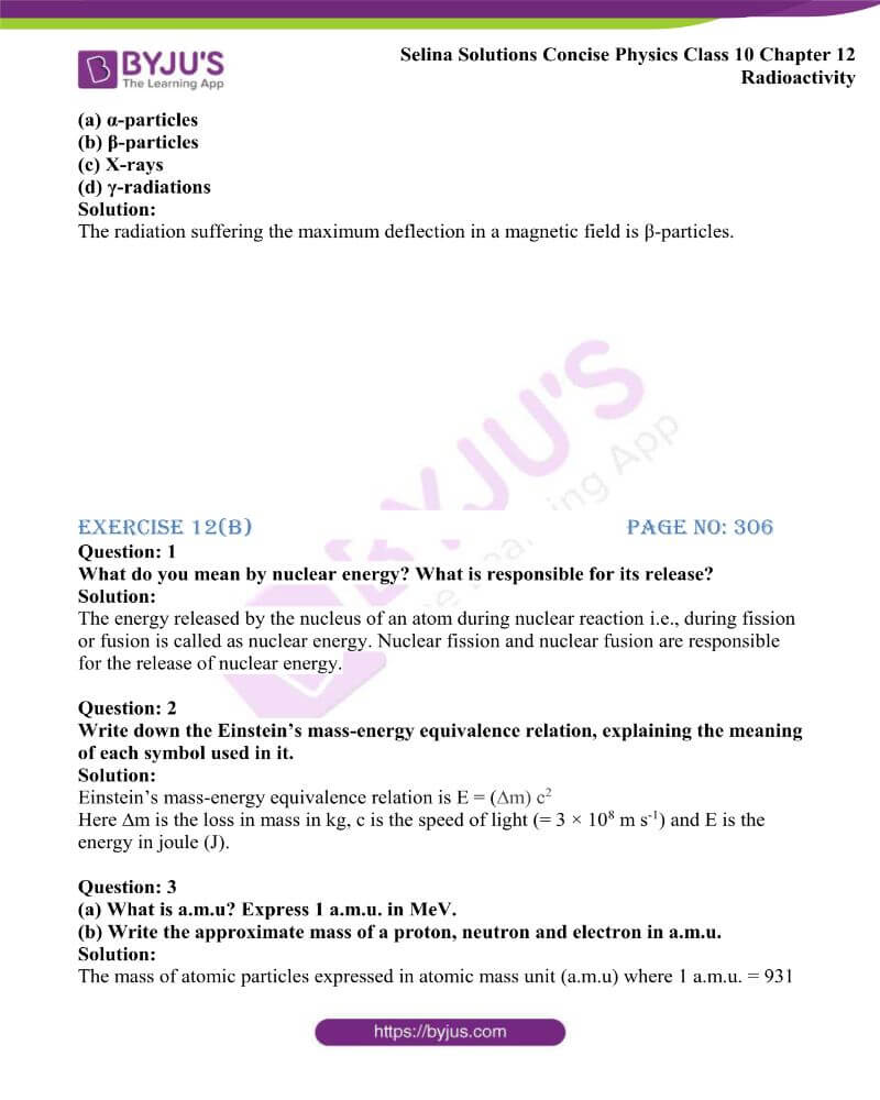 Selina Solutions Concise Physics Class 10 Chapter 12 Radioactivity 13