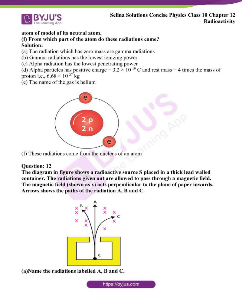 Selina Solutions Concise Physics Class 10 Chapter 12 Radioactivity 3
