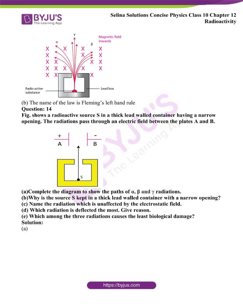 Selina Solutions Concise Physics Class 10 Chapter 12 Radioactivity 5