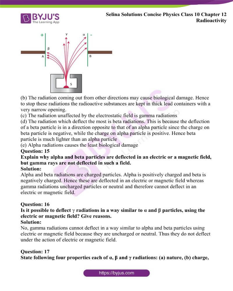 Selina Solutions Concise Physics Class 10 Chapter 12 Radioactivity 6