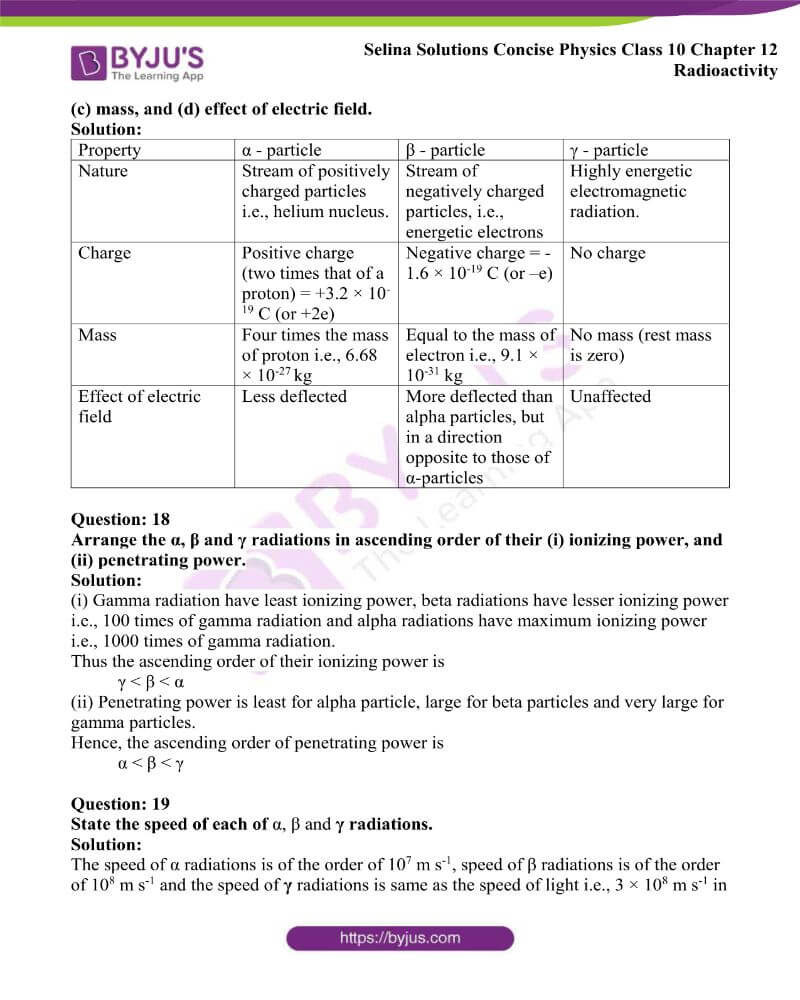 Selina Solutions Concise Physics Class 10 Chapter 12 Radioactivity 7