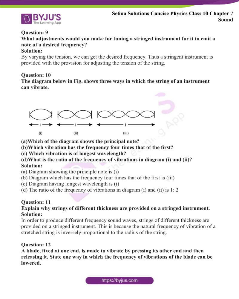 Selina Solutions Concise Physics Class 10 Chapter 7 Sound 11