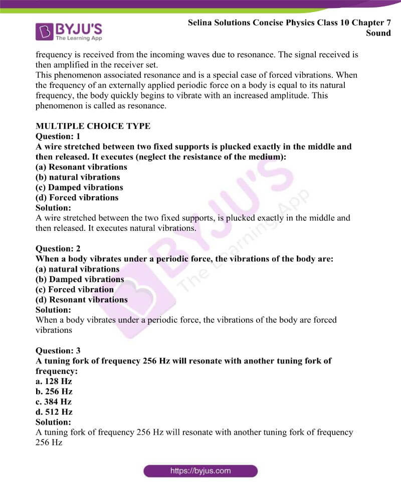 Selina Solutions Concise Physics Class 10 Chapter 7 Sound 19