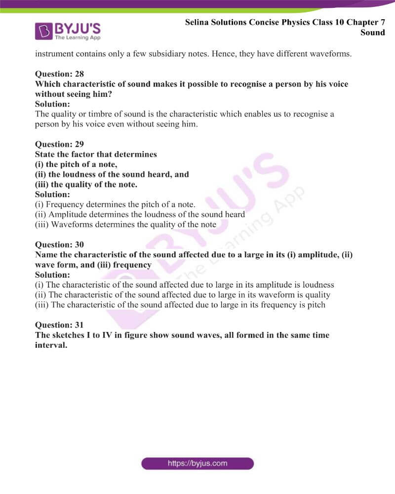 Selina Solutions Concise Physics Class 10 Chapter 7 Sound 27