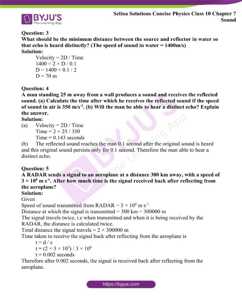 Selina Solutions Concise Physics Class 10 Chapter 7 Sound 5
