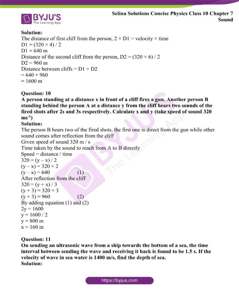 Selina Solutions Concise Physics Class 10 Chapter 7 Sound 7