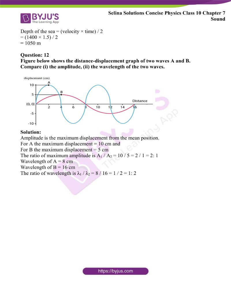 Selina Solutions Concise Physics Class 10 Chapter 7 Sound 8