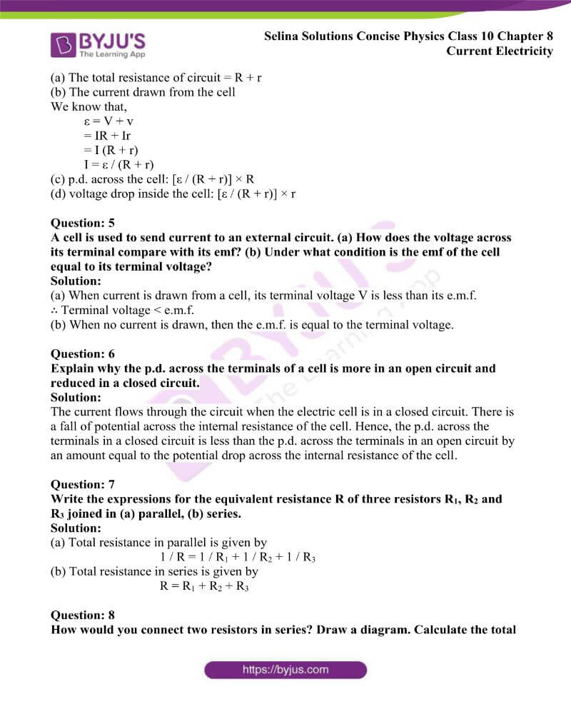 Selina Solutions Concise Physics Class 10 Chapter 8 Current Electricity 17