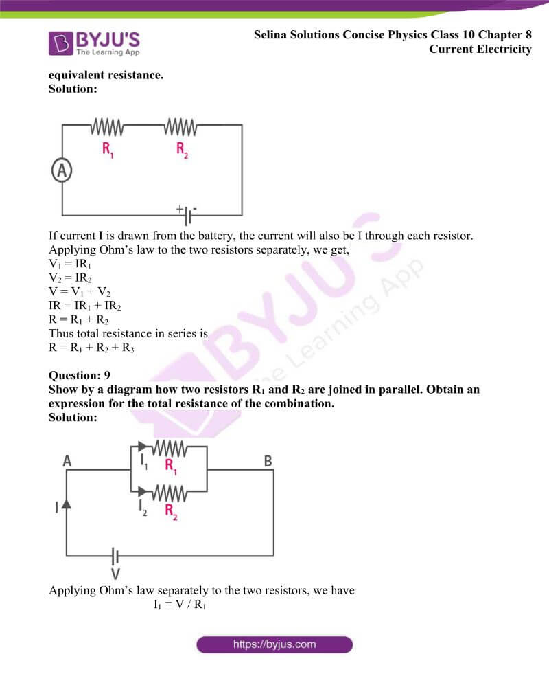 Selina Solutions Concise Physics Class 10 Chapter 8 Current Electricity 18