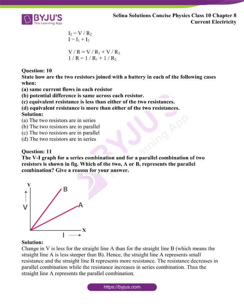 Selina Solutions Concise Physics Class 10 Chapter 8 Current Electricity 19