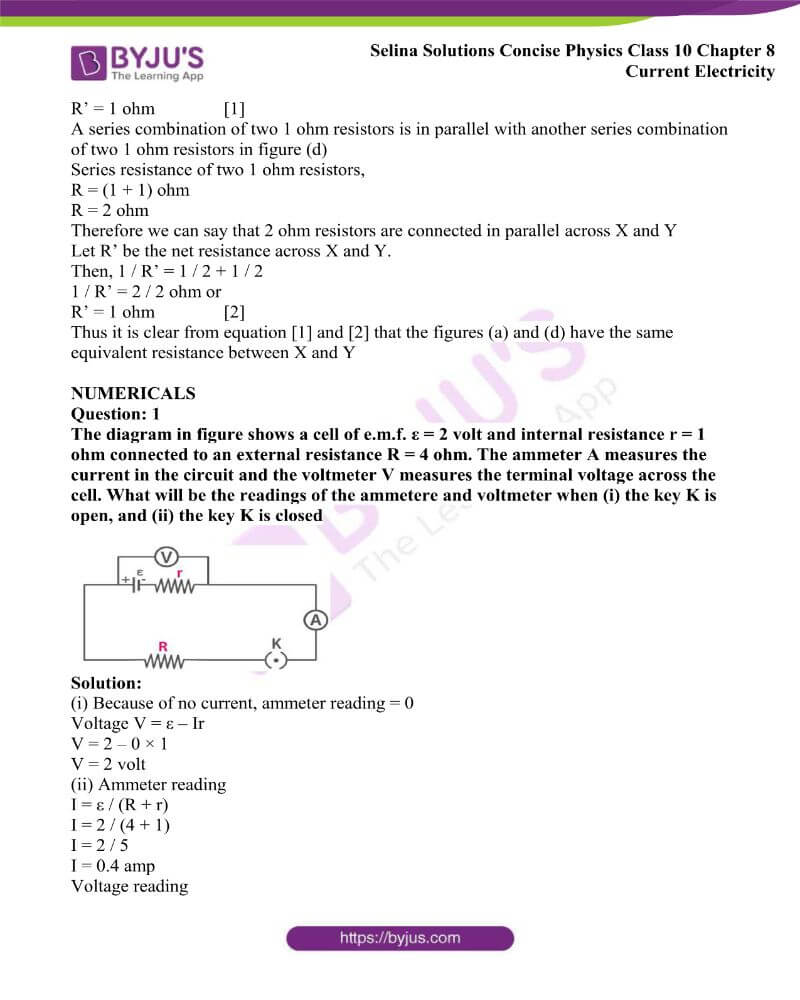 Selina Solutions Concise Physics Class 10 Chapter 8 Current Electricity 21