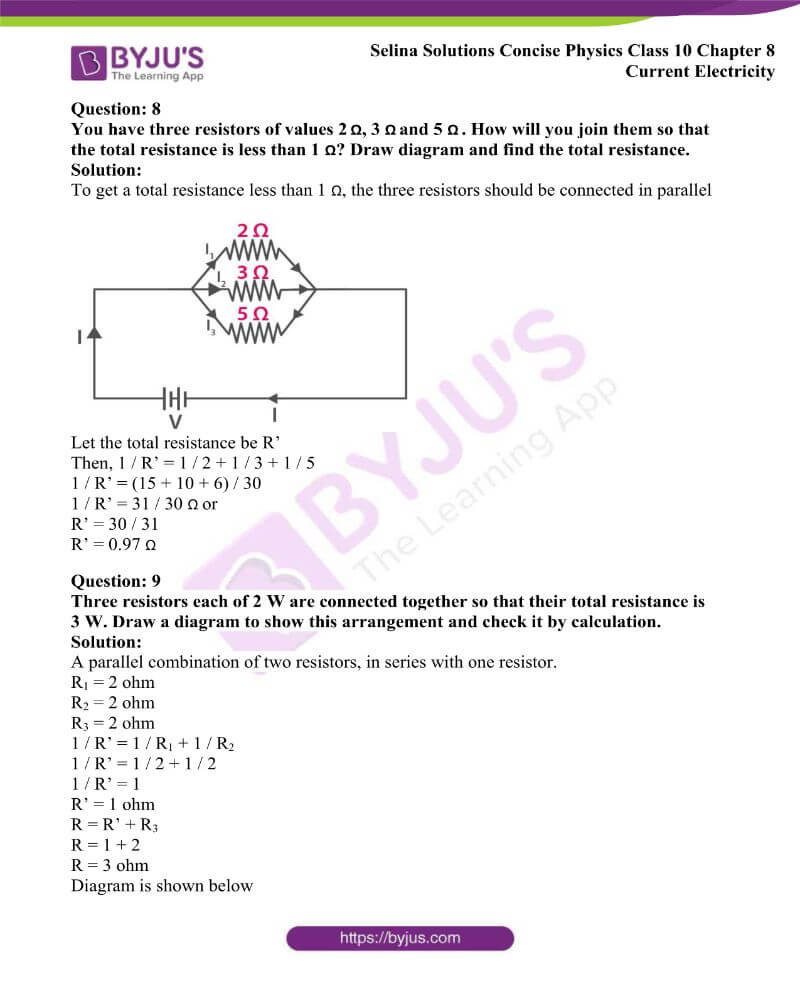 Selina Solutions Concise Physics Class 10 Chapter 8 Current Electricity 25
