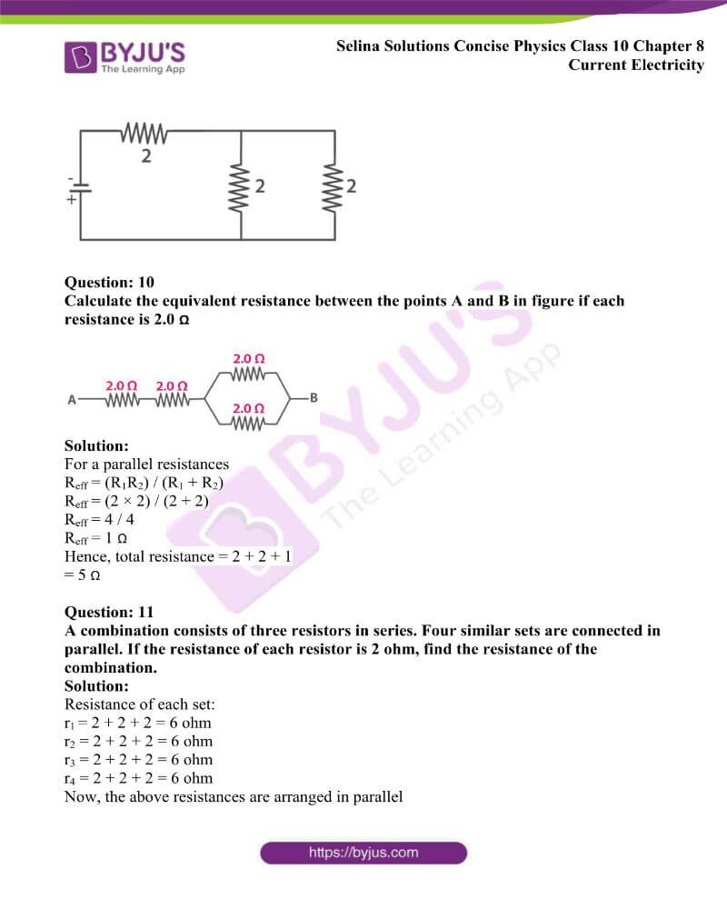 Selina Solutions Concise Physics Class 10 Chapter 8 Current Electricity 26