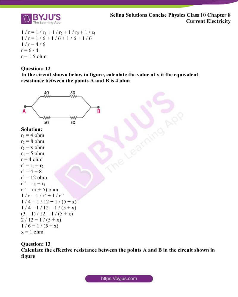 Selina Solutions Concise Physics Class 10 Chapter 8 Current Electricity 27