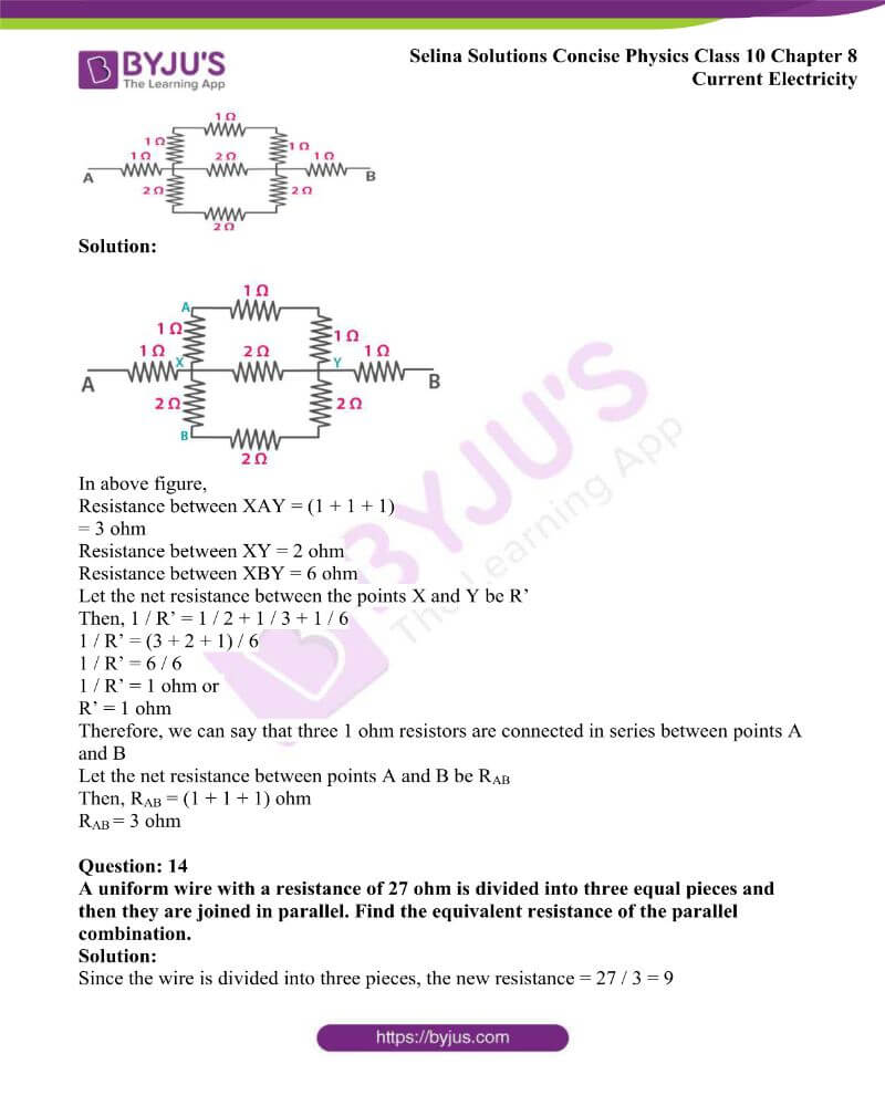 Selina Solutions Concise Physics Class 10 Chapter 8 Current Electricity 28