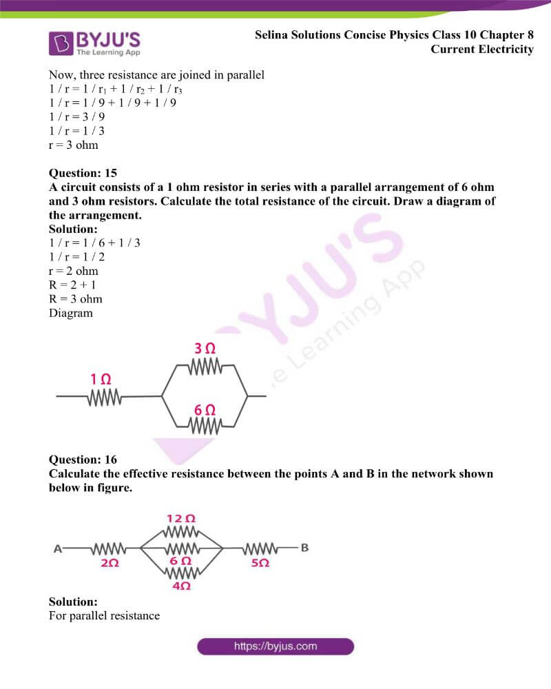 Selina Solutions Concise Physics Class 10 Chapter 8 Current Electricity 29