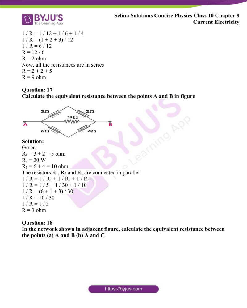 Selina Solutions Concise Physics Class 10 Chapter 8 Current Electricity 30