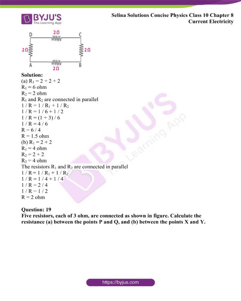 Selina Solutions Concise Physics Class 10 Chapter 8 Current Electricity 31