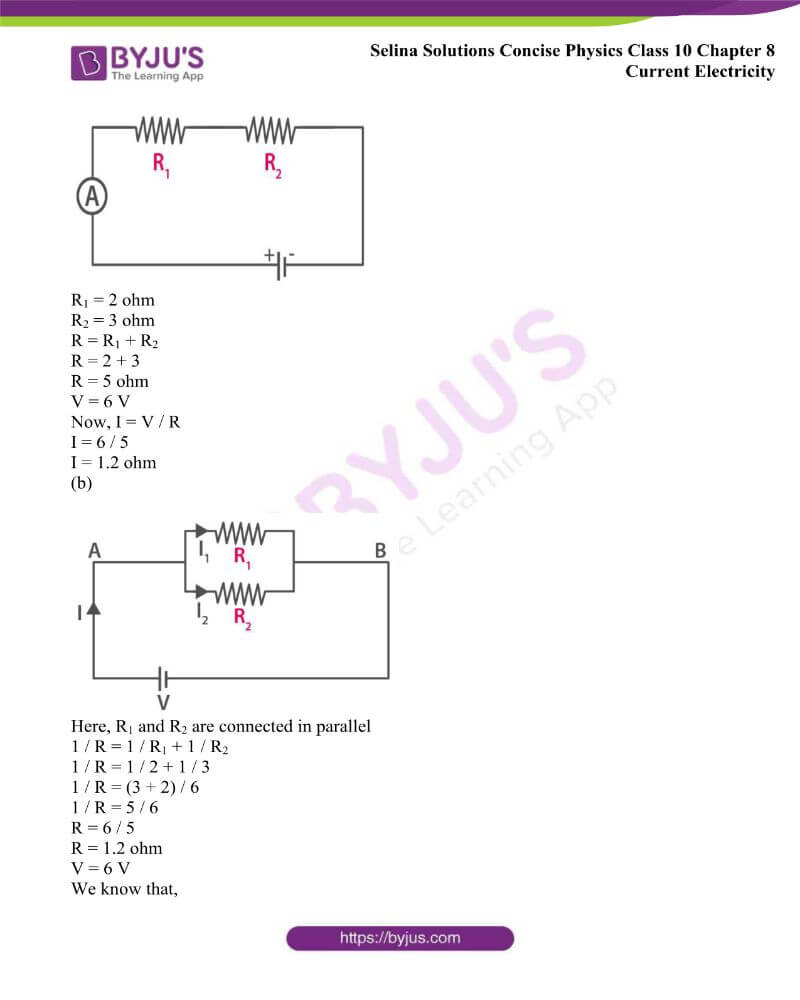 Selina Solutions Concise Physics Class 10 Chapter 8 Current Electricity 33