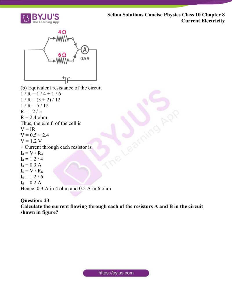 Selina Solutions Concise Physics Class 10 Chapter 8 Current Electricity 35