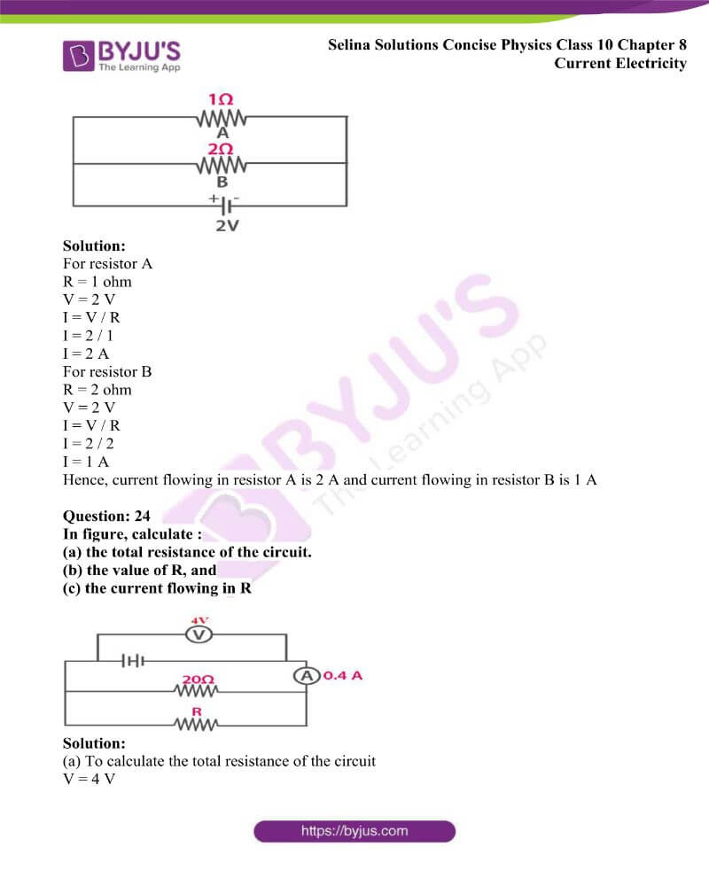 Selina Solutions Concise Physics Class 10 Chapter 8 Current Electricity 36