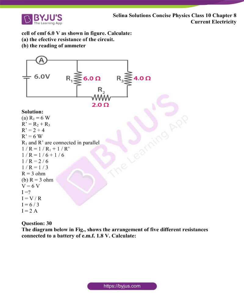 Selina Solutions Concise Physics Class 10 Chapter 8 Current Electricity 41