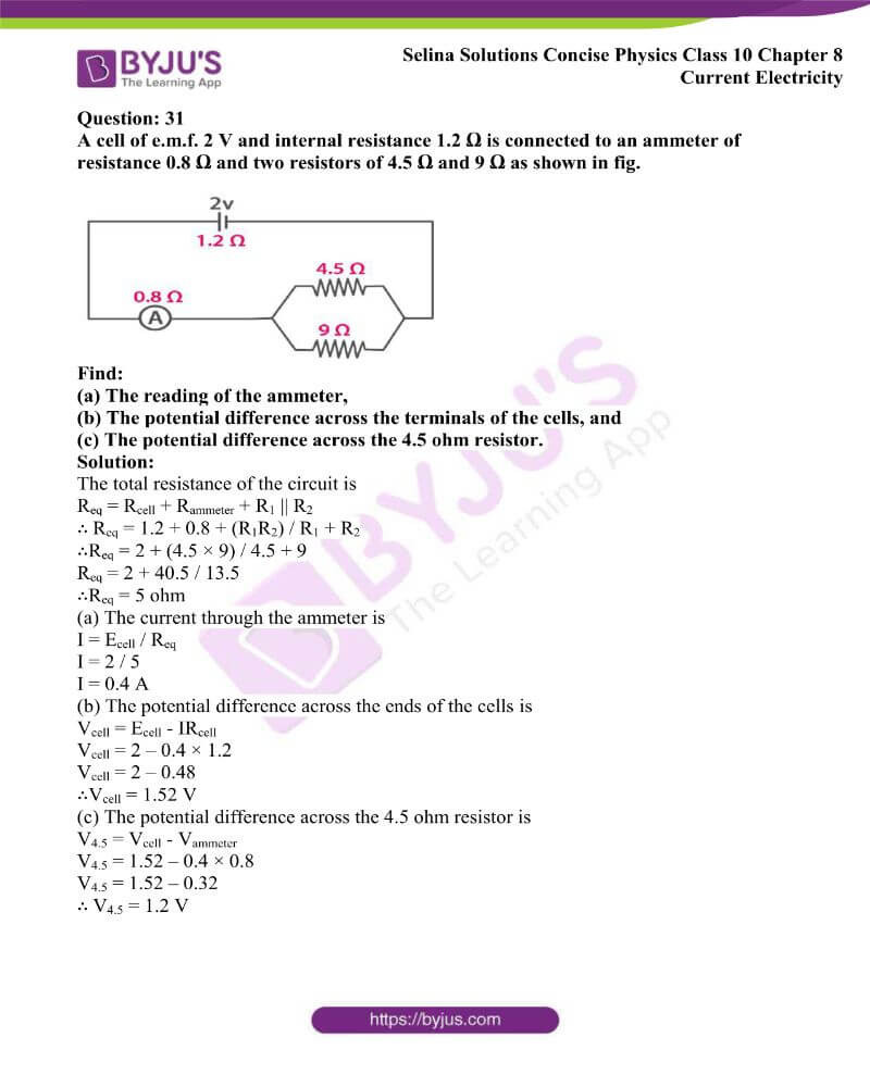 Selina Solutions Concise Physics Class 10 Chapter 8 Current Electricity 43