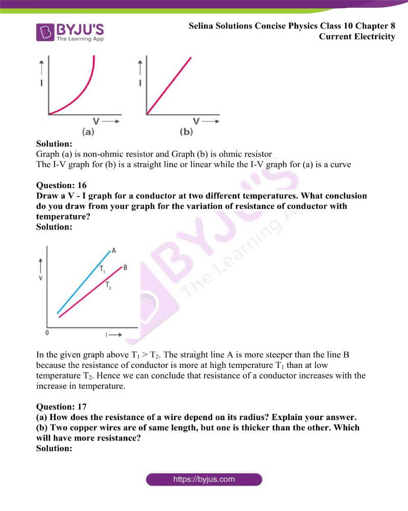 Selina Solutions Concise Physics Class 10 Chapter 8 Current Electricity 5