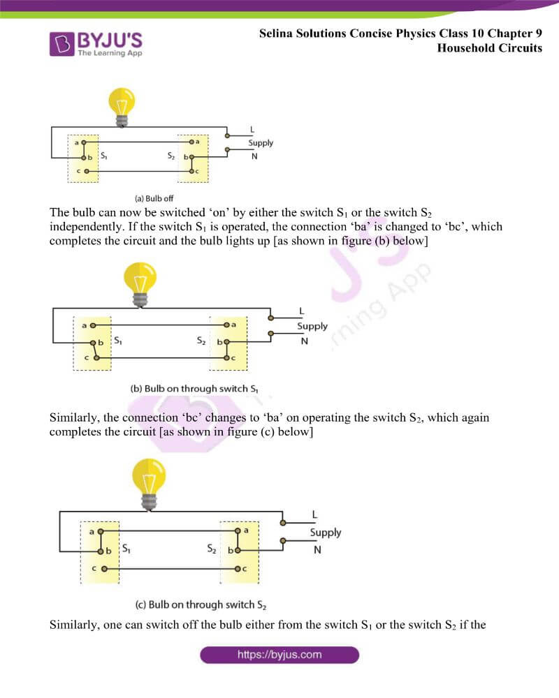 Selina Solutions Concise Physics Class 10 Chapter 9 Household Circuits 12