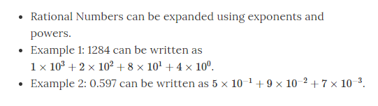 Expanding a rational number using powers