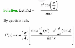 x^2 cospi/4/sinx