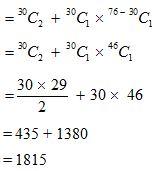 IIT JEE, combination problem