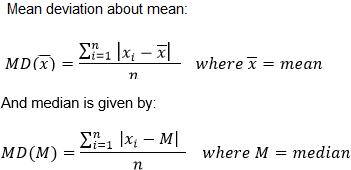 Mean Deviation Formula in Statistics