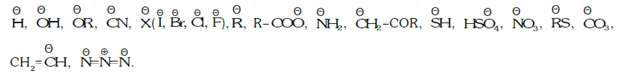Negatively charged nucleophiles