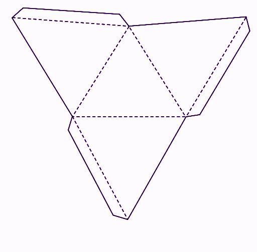 Net of a triangular pyramid