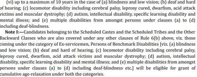 UPSC Eligibility 2020 - Physically handicapped