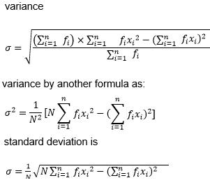 Variance Formula in Statistics