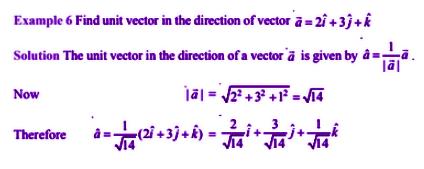 Vector Algebra for class 12 example