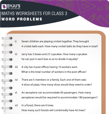 Word Problems for Class 3 Worksheet-3